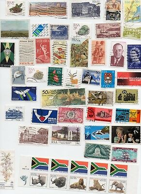 SOUTH AFRICA STAMPS  175 All Different and Off Paper (3 Scans )