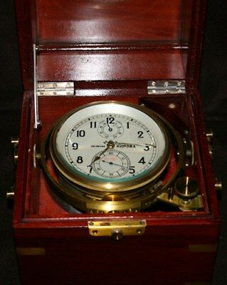 Russian Soviet Ussr Marine Chronometer Nmehn Khpoba * Two Boxes