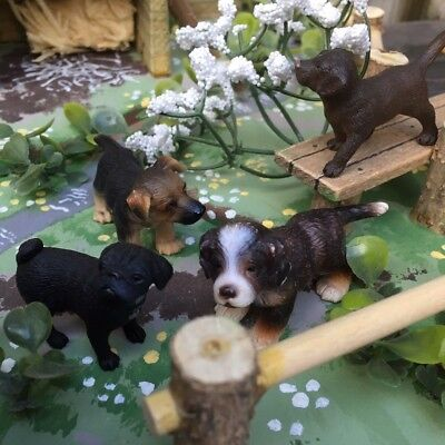 Nice Collection Of Puppies - Quality Collectable 'schleich' Farm Animals