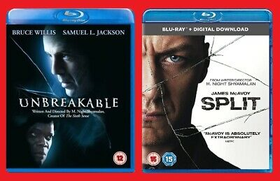 Unbreakable and Split Blu-ray Double Pack NEW Sealed Bruce Willis James McAvoy