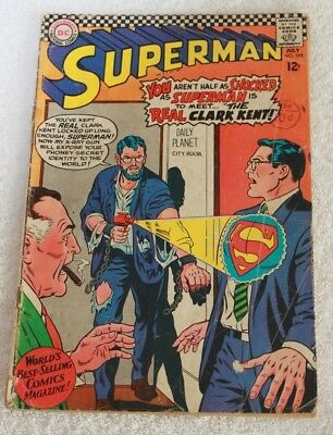 SUPERMAN  No.198....JULY  1967...NATIONAL  PERIODICAL.