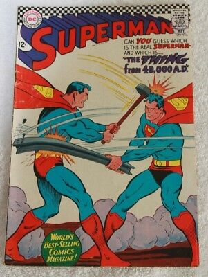 SUPERMAN  No.196....MAY  1967...NATIONAL  PERIODICAL...A  LOVELY  CLEAN  COMIC