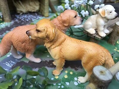 Pair Of 'labradors &  Puppy' - Quality Collectable 'schleich' Farm Animals