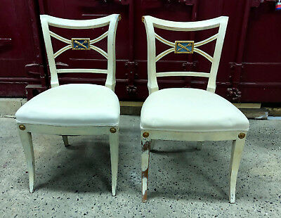 Reproduction imperial dining chairs ( X 2 )
