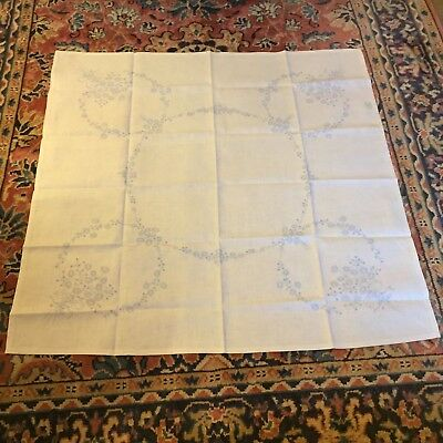 Vintage Pre-Printed Irish Linen Tablecloth - For Embroidery