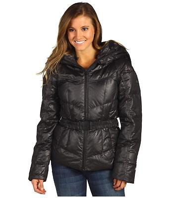 7511a06cf417 The North Face Womens Collar Back 550 Down Hooded Puffer Jacket Black Size  S New
