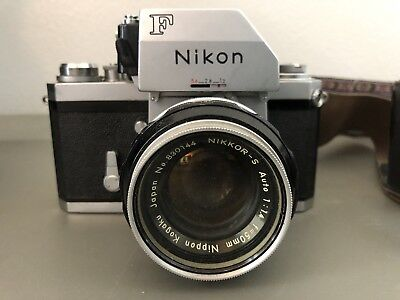 Nikon Series F Camera withNikkor-S F50mm lens & Protective Case and strap
