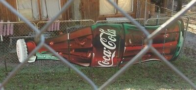 Original Huge 2 Story Coca-Cola Store Advertising Sign Large Rare 19 1/2' Long