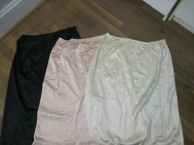 Lot of 3 half Slips Leggs and Shadowline size Medium