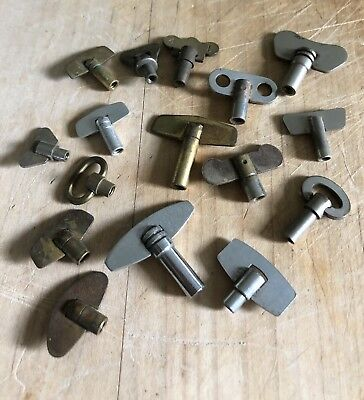 Assortment of Vintage Clock Winding Keys