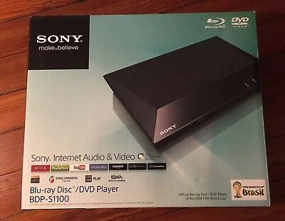 Sony Blu-ray Disc DVD Player BDP-S1100 Internet Audio & Video New