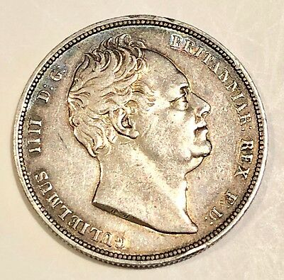 1834 William IV Silver Half Crown, very nice clean coin
