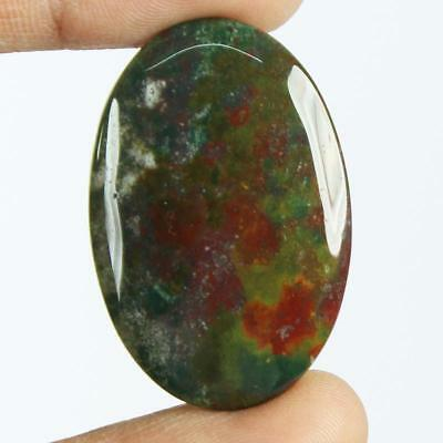 34ct Natural Best Grade Blood Stone Oval Cabochon from Africa EZ35