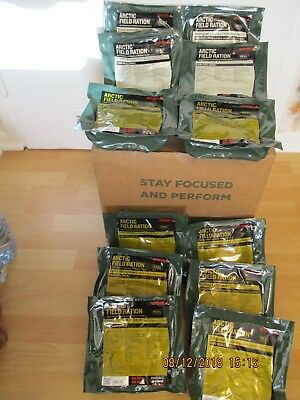 12X REAL Feldration Arctic Field Ration Packs  MRE Army Norwegen Not Ration