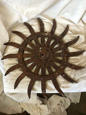 Antique/ Tiller Head / Rotary-hoe wheel, Cultivator Wheel Farm Equipment