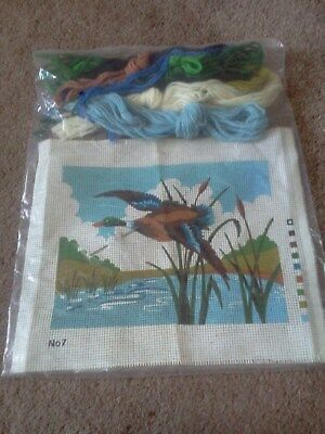 Tapestry kit canvas and wools unbranded bird design