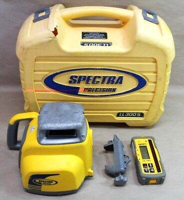 Spectra Precision LL300S Laser Level & HL760 Receiver Kit W/Rod Clamp In Case
