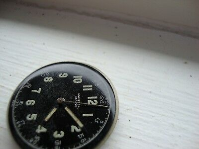 Vintage Movement&dial For Universal Geneve Military  263,swiss 1940's-For Parts