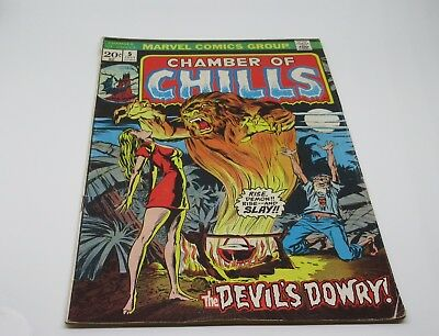 """Chamber of Chills Marvel Comics Group July 1973 Vol.1 No.5 """"The Devils Dowry"""""""