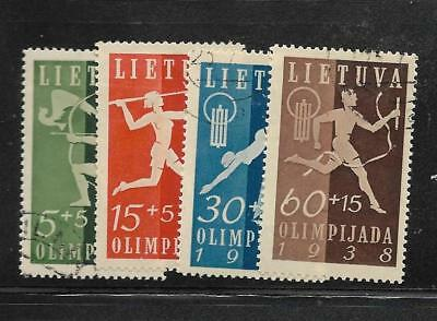 U.S. - 1938 - Lithuania - Semipostals - Used Set of 4  - Scott#:  B43-46