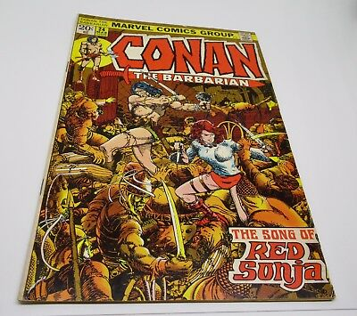 Conan The Barbarian  Marvel Comics Group No.24 Mar 1973 The Song of Red Sonja