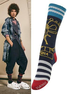 Vivienne Westwood Japan SIVA Cotton Socks -Navy-Size 25-27cm