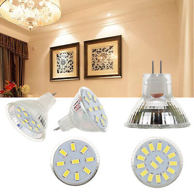 LED Bulb Spotlight 2W 3W 4W MR11 12-24V 5733 2835 SMD 10W 20W Equivalent Lamp RC