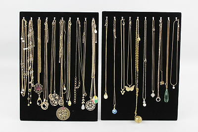 30 x Vintage Gold Tone NECKLACES inc Choker, Locket, Drop, Glass Bead, Collar