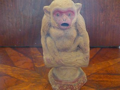 Antique Japanese Ceramic Monkey Incense Burner