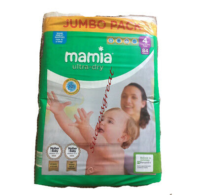 Pampers New Baby Nappies Size 4 X 2~ Jumbo Park Mamia ~ Pack Of 2 = 168 Nappies
