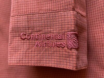 Continental Airlines Logo Dress shirt Size S