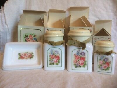Set of Vintage AVON COUNTRY GARDEN Decanters and Soap Dish
