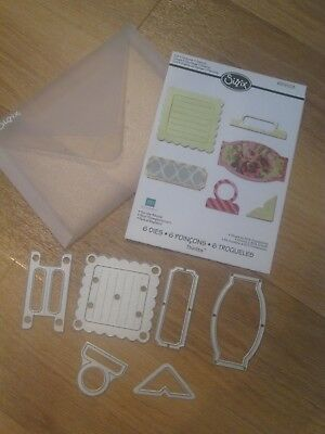 """Sizzix Thinlits die """"For the Record"""" 659108 lightly used great condition"""