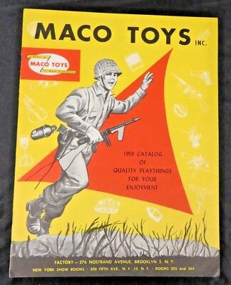 Vintage 1959 Maco Toys play army  helmets ++  Catalog  VG/NM