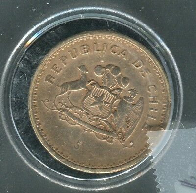 """1985 Chile 100 Peso Coin - """"Coat of Arms"""""""