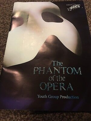 Phantom Of The Opera Programme. Youth Group Production.QueensTheatre Barnstaple