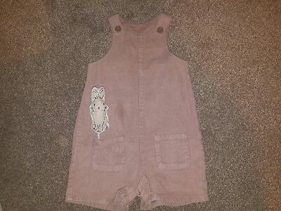 BNWOT pink cord dungarees 12-18 month