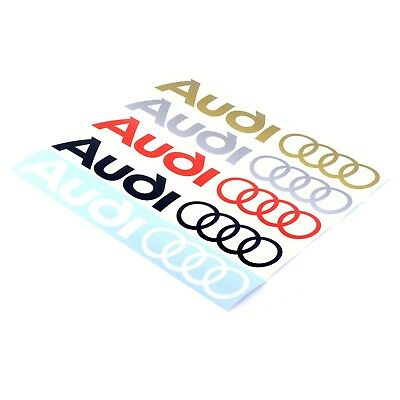 Audi Logo Rings Sticker Decal Vinyl 350mm x2 Race Door Window Body Panel Sticker