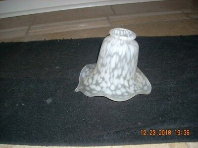 **** Vintage Art Deco Calla Lily Tulip Frosted Glass Lamp Shade  ****