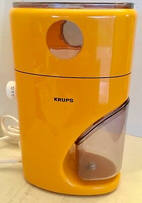 Rare orange KRUPS 223 coffee grinder Mr Fusion back to the future tested working