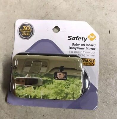 Safety 1st Baby On Board Babyview Mirror Car Rear view Mirror New NWT