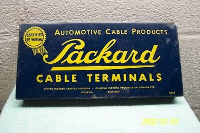 Packard Cable Terminals Steel Box/Divided/Tr.No.200-A/Oshawa/Ontario/Canadian