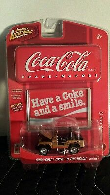 Johnny Lightning Coca-Cola Drive To The Beach 66 Jeep CJ5 3rd in series New