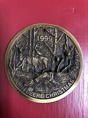 *John Deere 1999Limited Ed Brass Christmas Ornament Mfg 1999