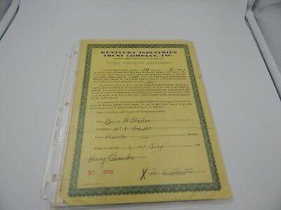 Lot of Vintage Stock Certificates 1950s - 1980s