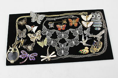 25 x Vintage & Retro BUTTERFLY JEWELLERY inc. Brooch, Bird, Bug, Ring, MOP