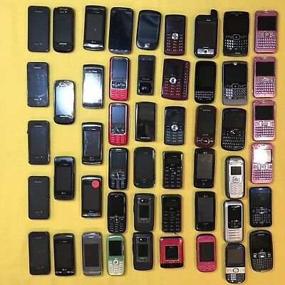 50 Cell Phones (14 lbs.) - Touchscreens and Qwertys - Scrap, Parts, Repair, Gold