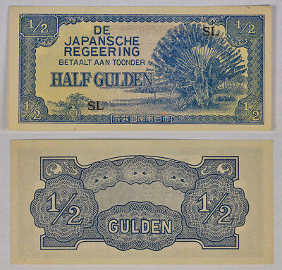 NETHERLANDS INDIES (DUTCH EAST INDIES) 1/2 GULDEN NOTE P-122b ! EXCELLENT NOTE !