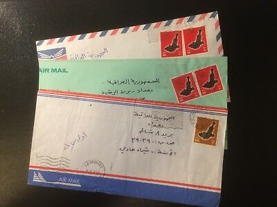 Oman - x3 Cover from (CPO Muscat) to Iraq VF [O186]