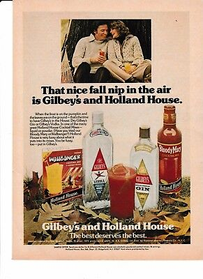 1975 Gilbeys' & Holland House Original AD Vintage